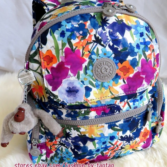 New w Tag Kipling  MATTA Backpack w Furry Monkey